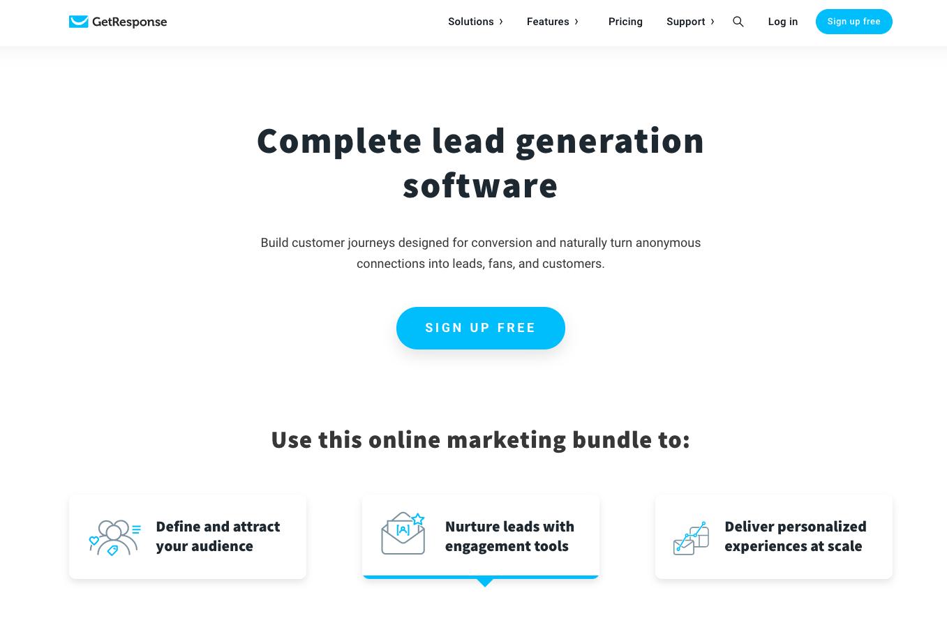 Lead Generation Software GetResponse.