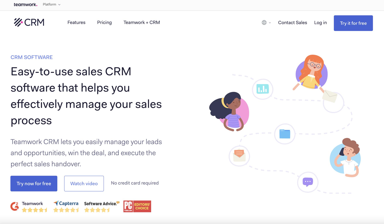 Real estate marketing tool - Teamwork CRM.