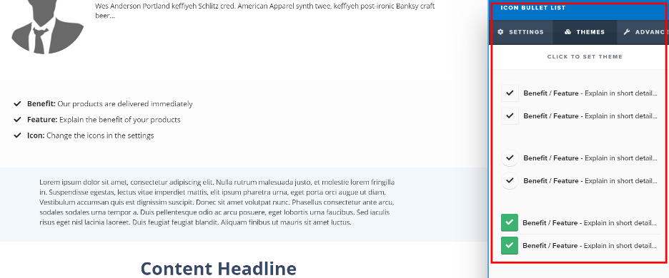 ClickFunnels landing page options.