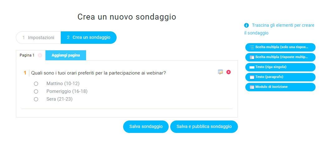 creare sondaggi con GetResponse