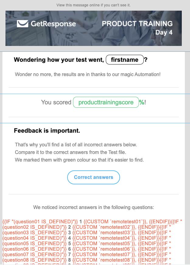 пример персонализированного письма с динамическим контентом