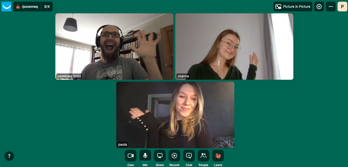Employees connect for some social time through a Slack app called Donut.