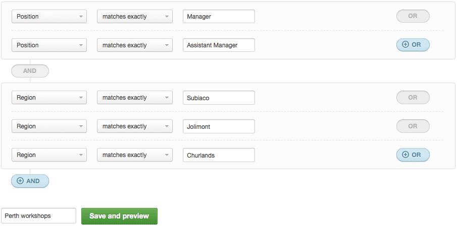 Segmenting contacts in Campaign Monitor.