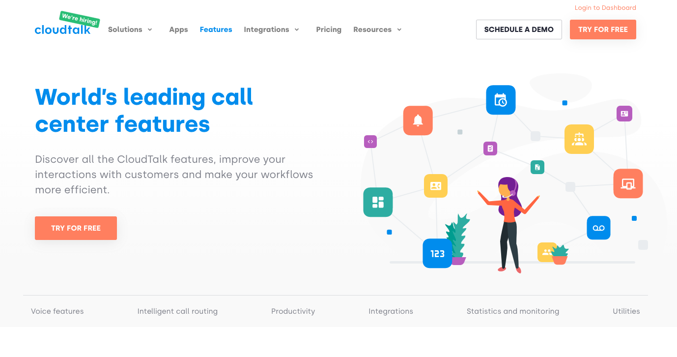 Cloudtalk.io for outbound sales calls.