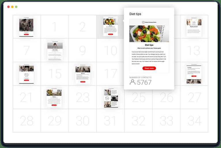 GetResponse autoresponder calendar feature.