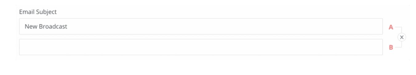 выбор тем письма для А/В тестов в ConvertKit