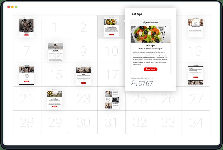 календарь автореспондеров GetResponse