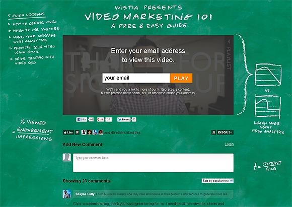Видео курс, который использует Wista как лид магнит для привлечения новых подписчиков