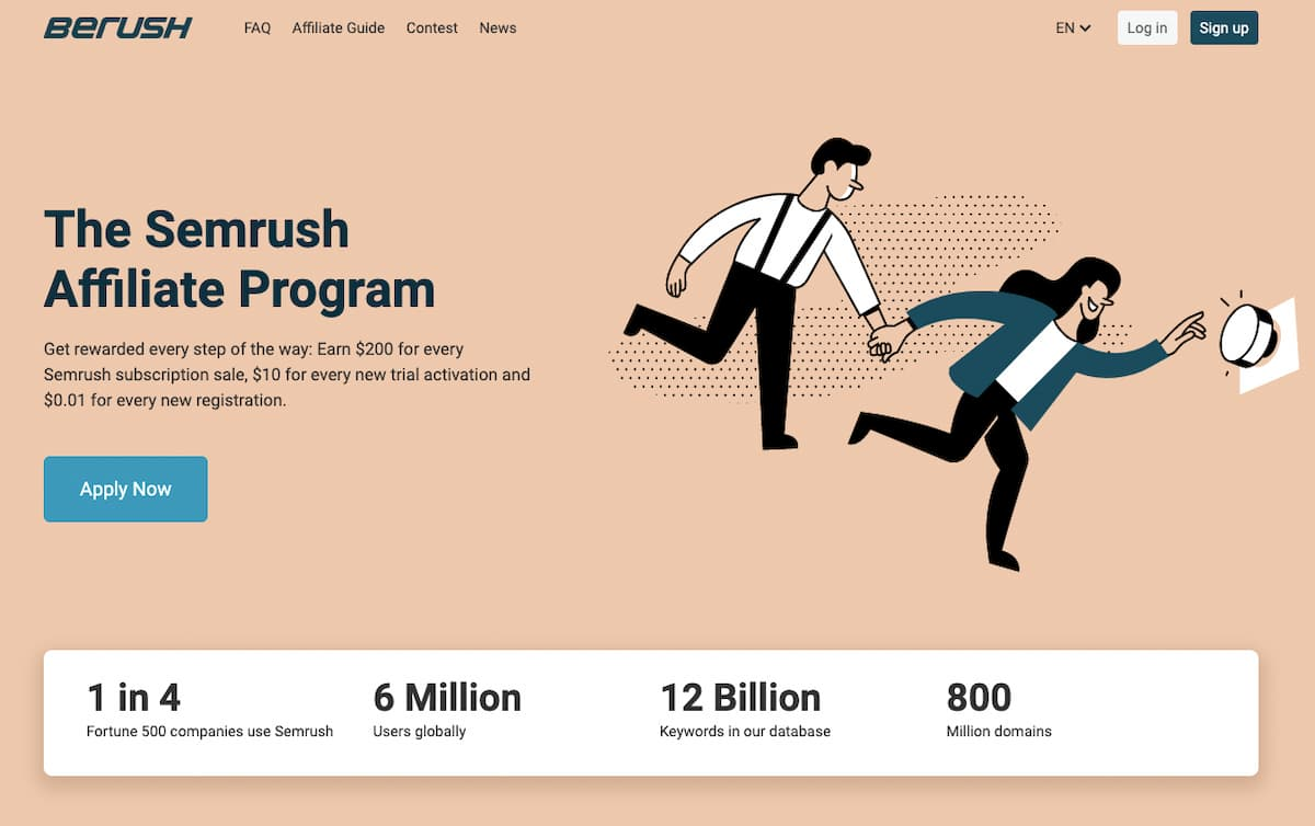 SEMrush affiliate program.