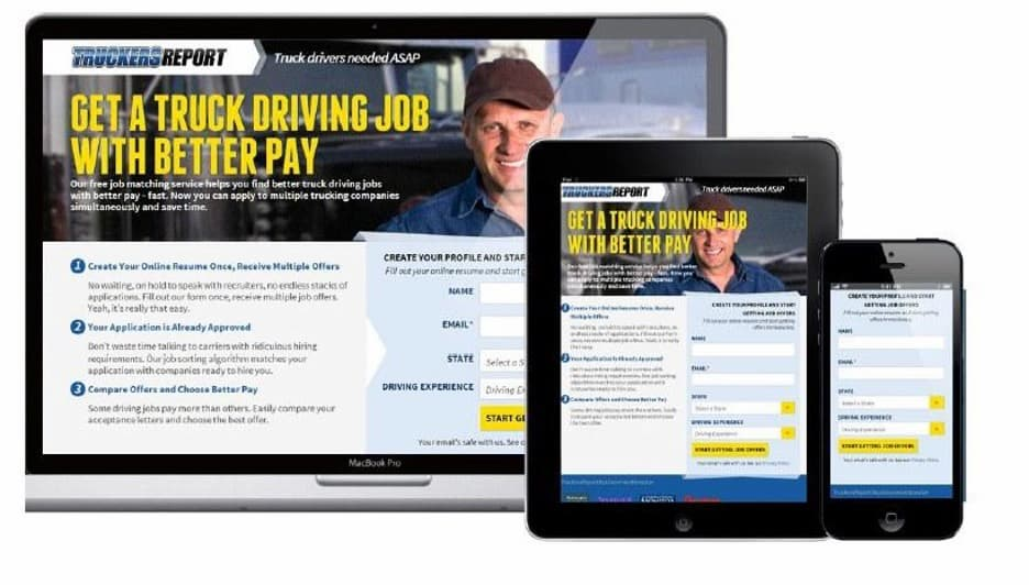 The new and improved TruckersReport landing page.