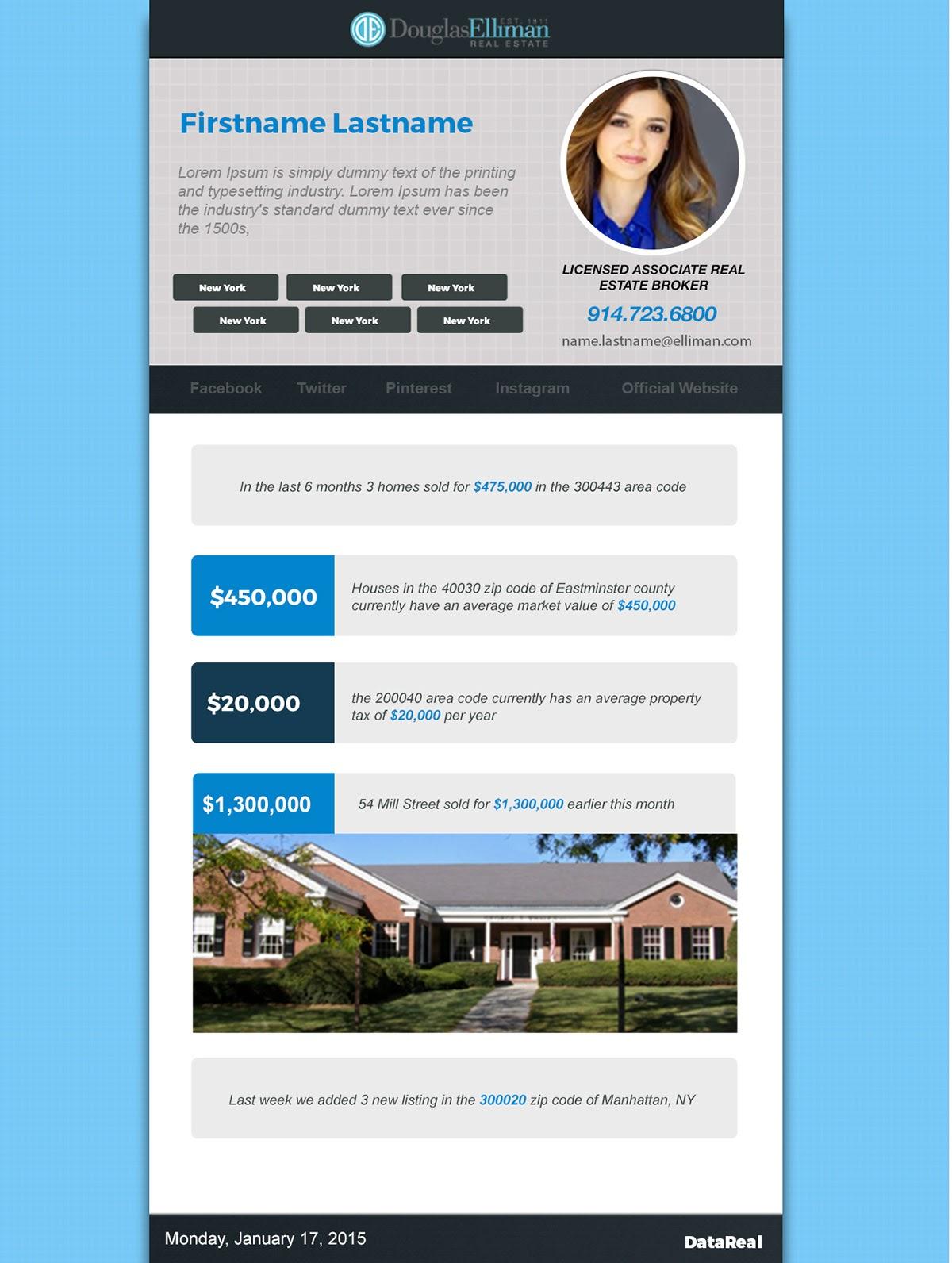 пример рассылки о недвижимости с динамическим контентом