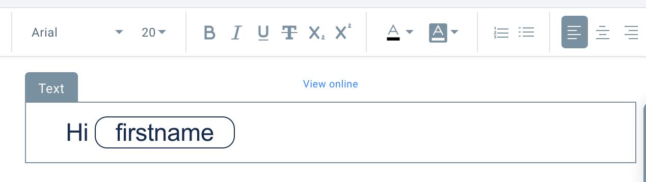 шаблон для персонализации имени подписчика который можно создать с помощью конструктора в GetResponse