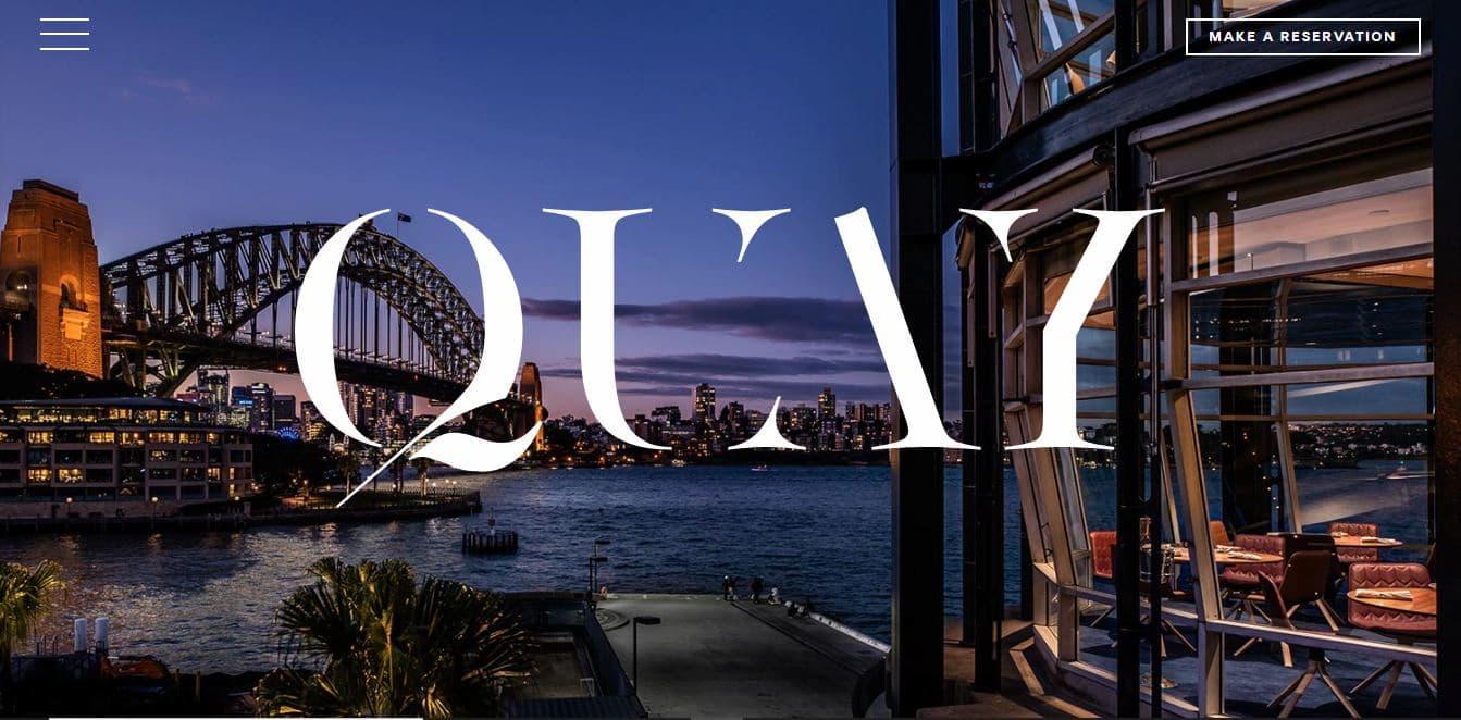 Restaurant website design example from Quay.