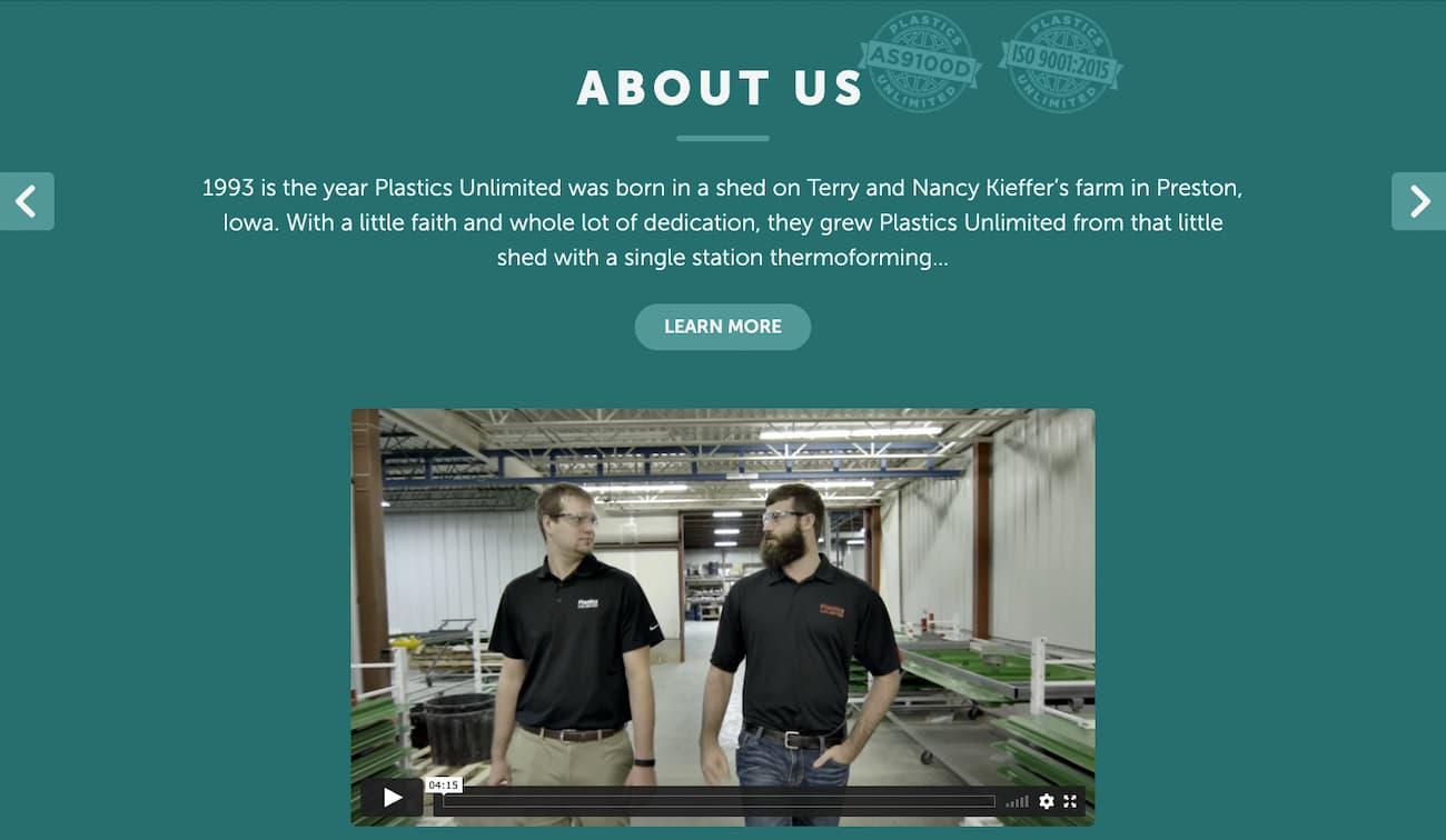 Plastics unlimited - small business website 3