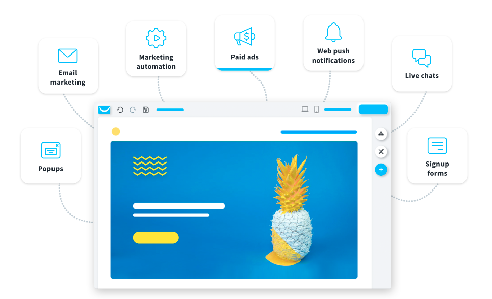Connect your website with other marketing tools.