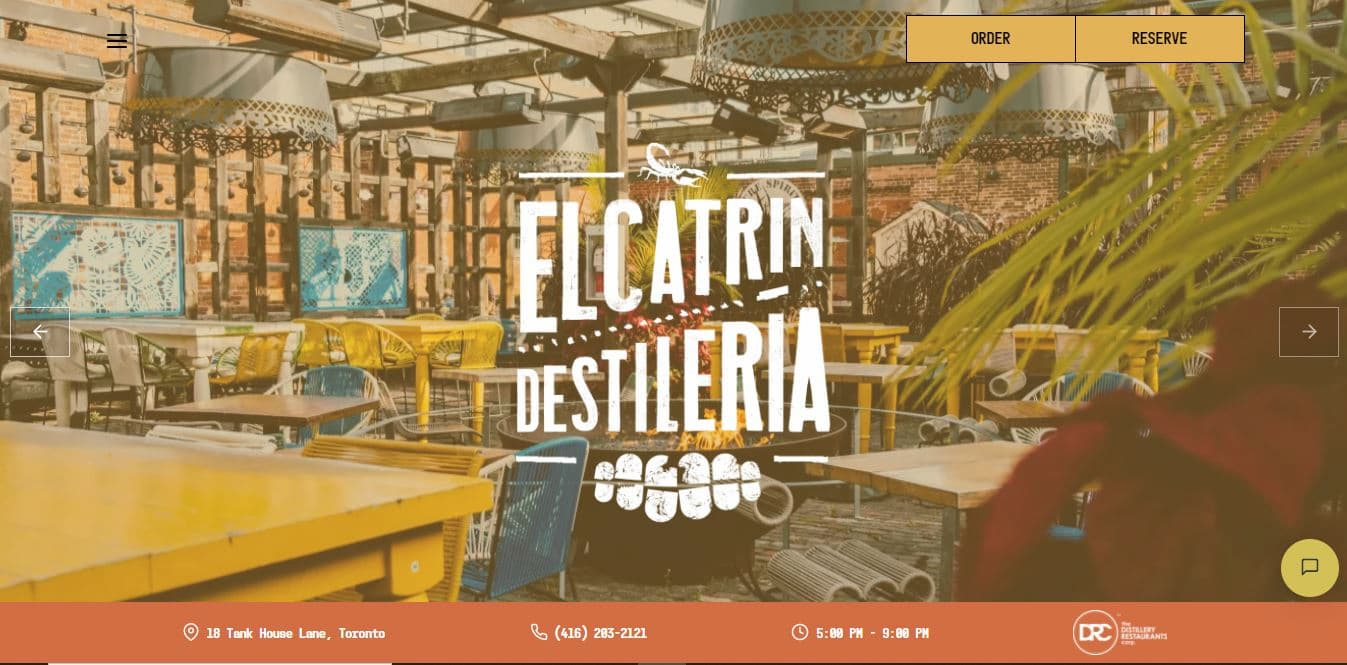 Restaurant website ideas - El Catrin.