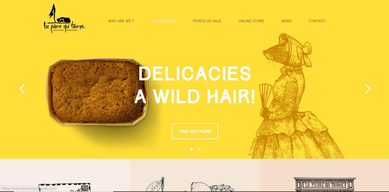 Restaurant website idea - La Pierre Qui Tourne.