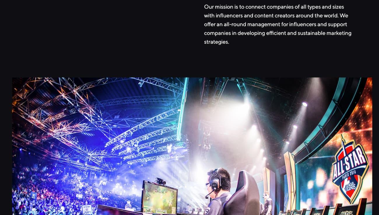 Allies agency website example.