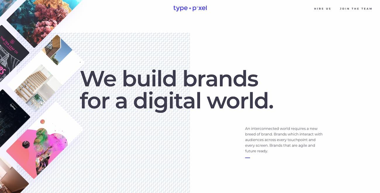Type + Pixel website example.