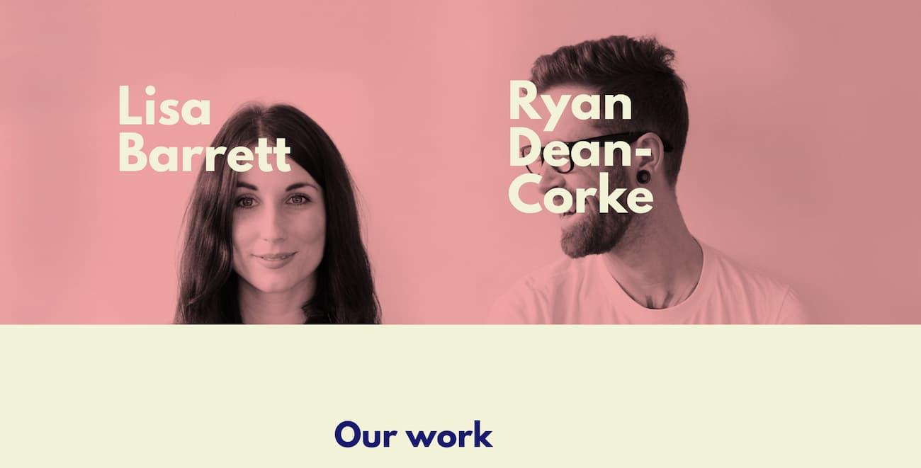 Lisa + Ryan website example.