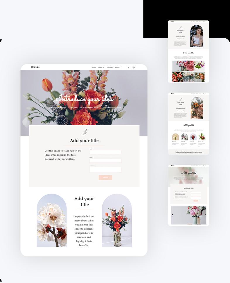 Designing a professional website.