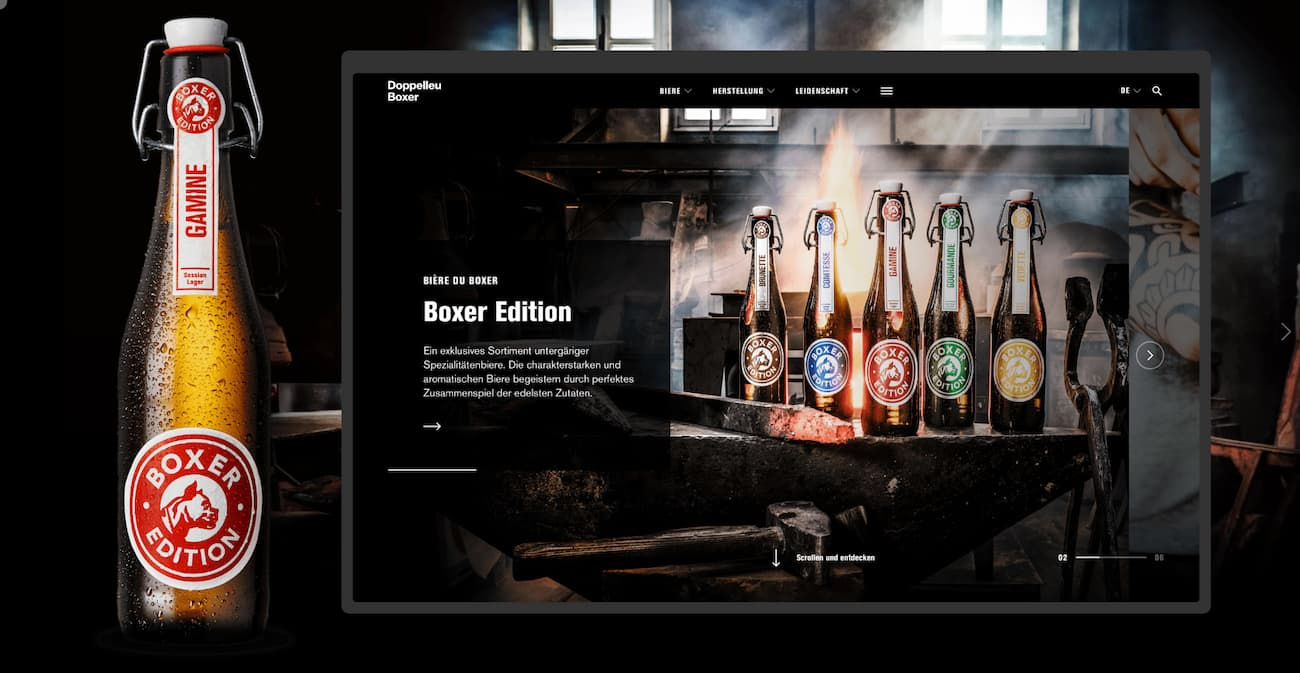 Personal website example - Andreas Beuger.