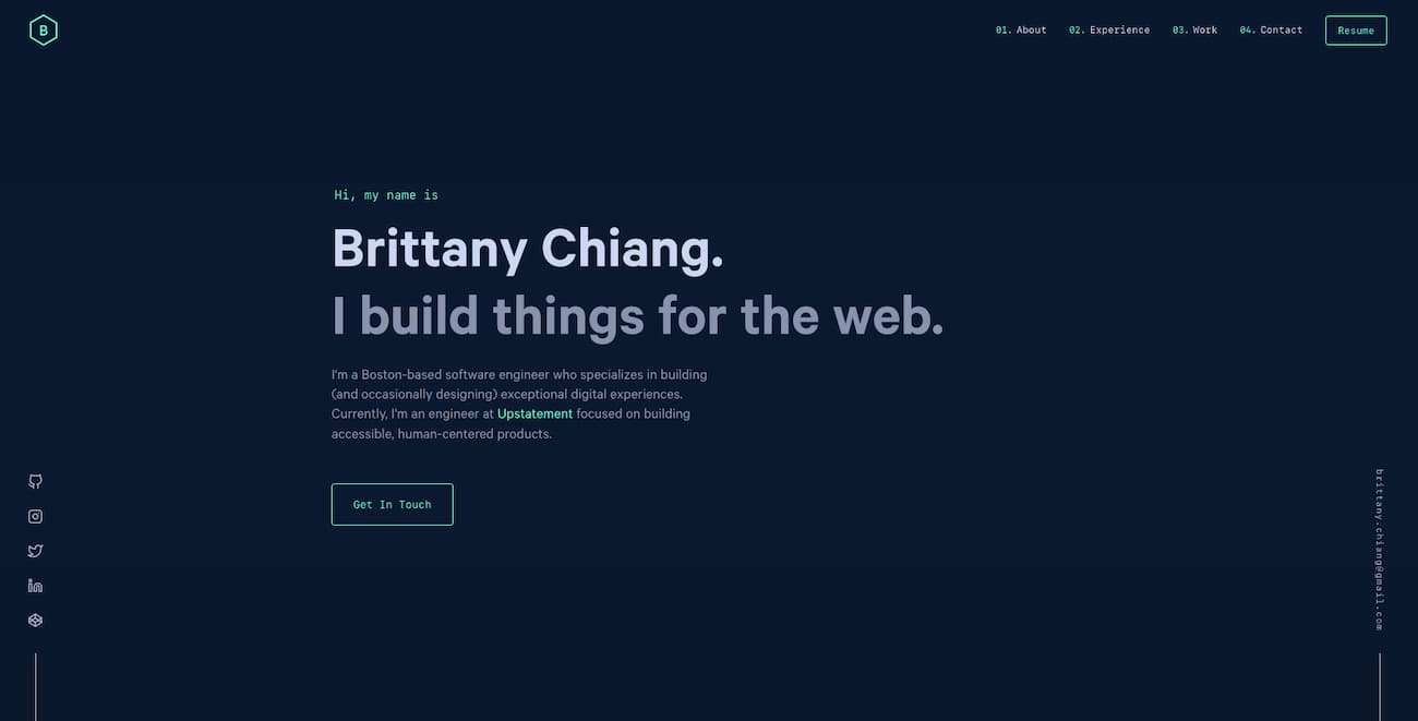 Online resume - Brittany Chiang.