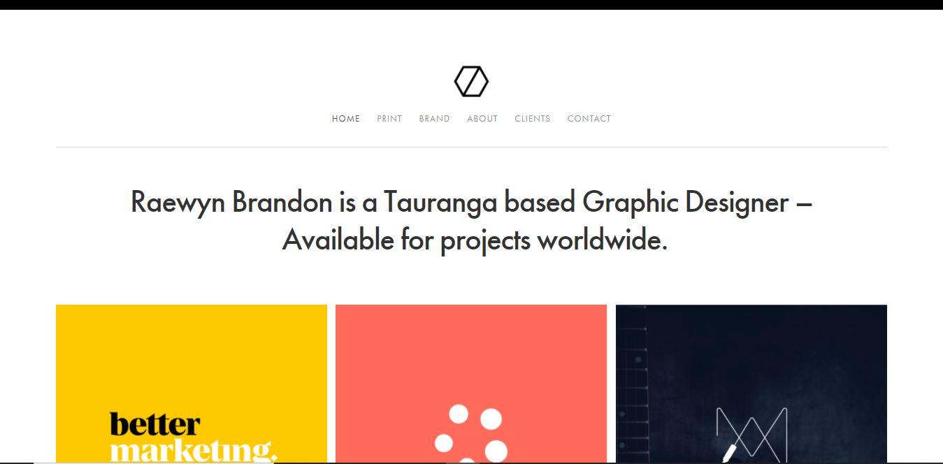 A designer's personal website.