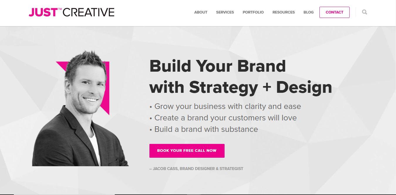 Clear website design.