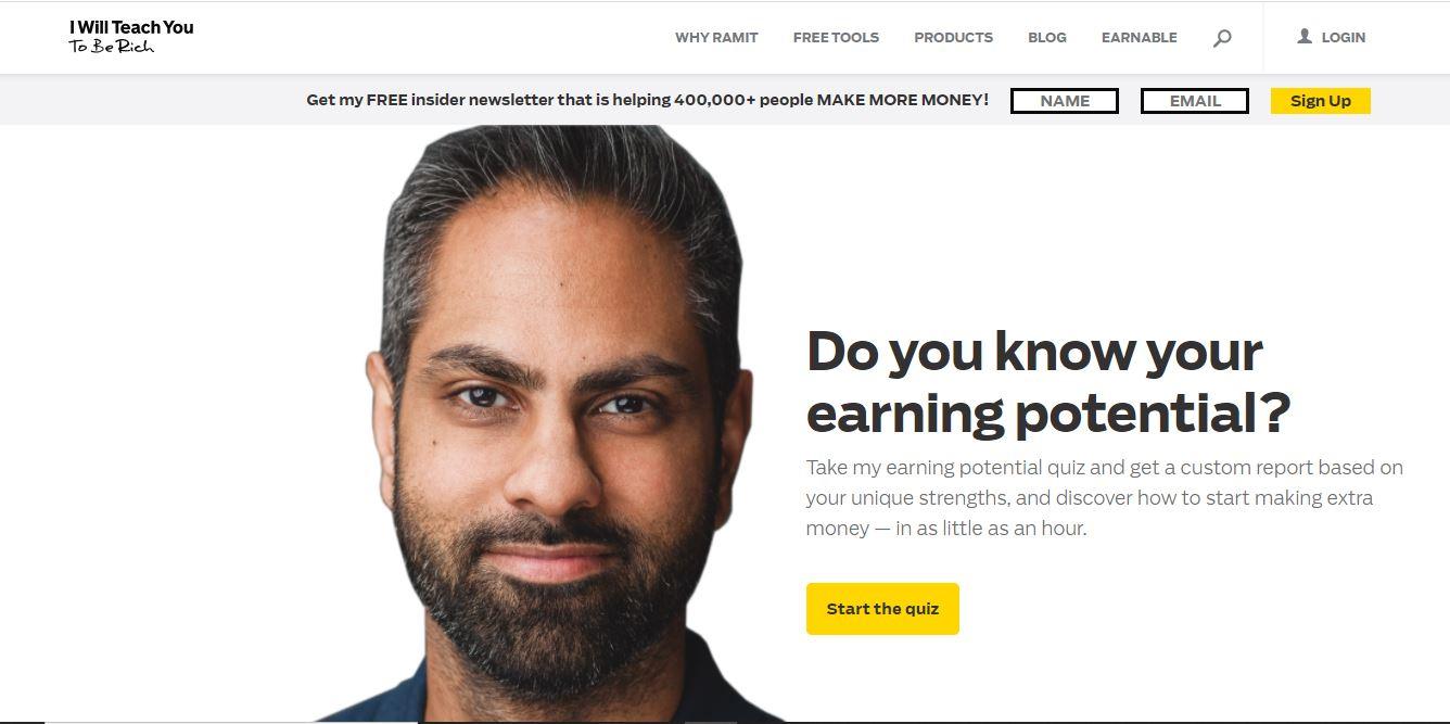 Personal webpage of a finance advisor.