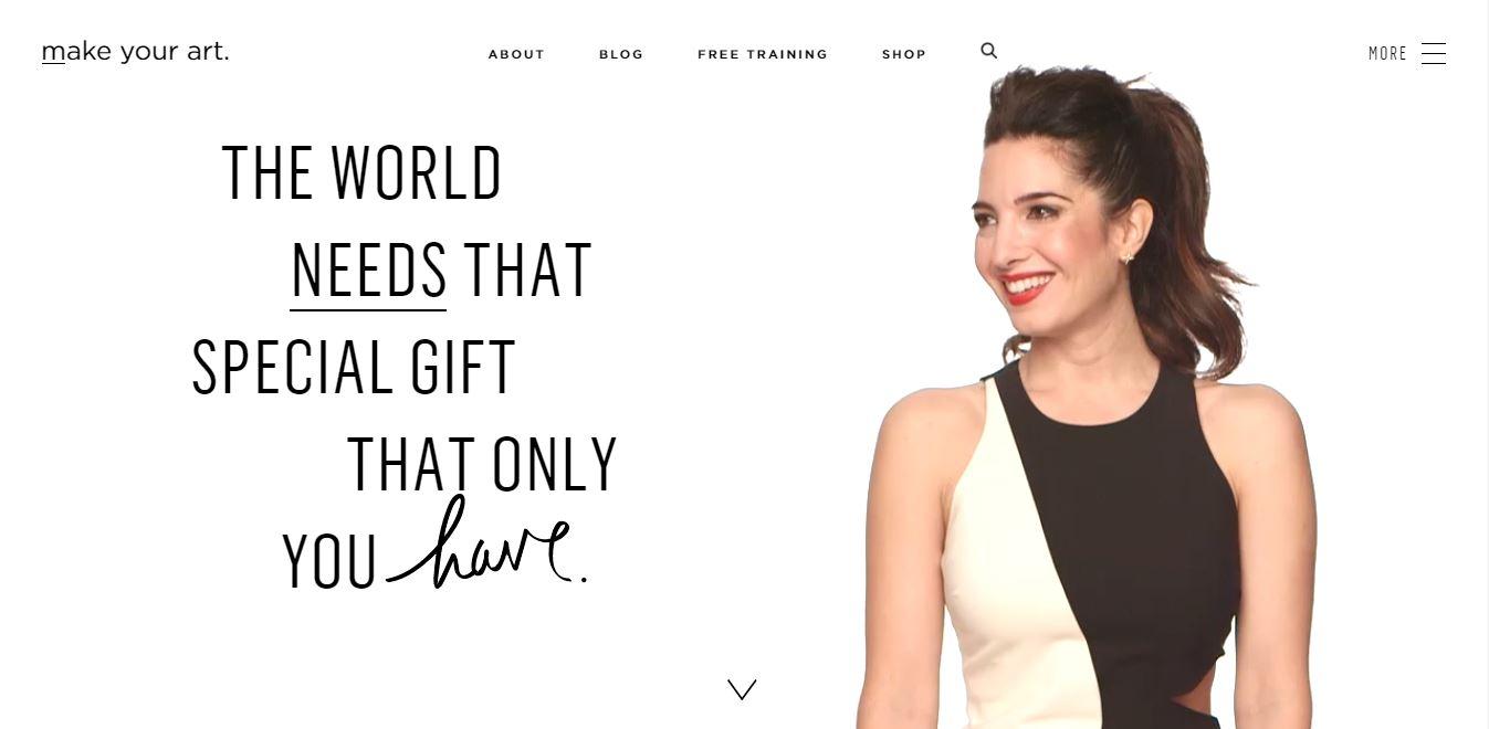 Entrepreneur personal webpage.