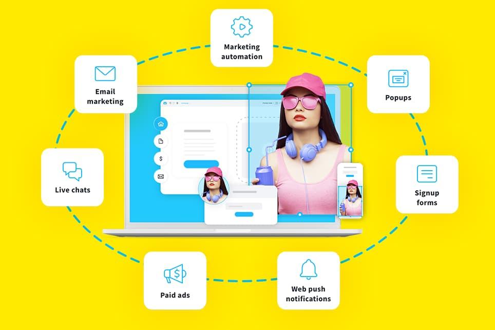 Integrated marketing tools right inside one platform.