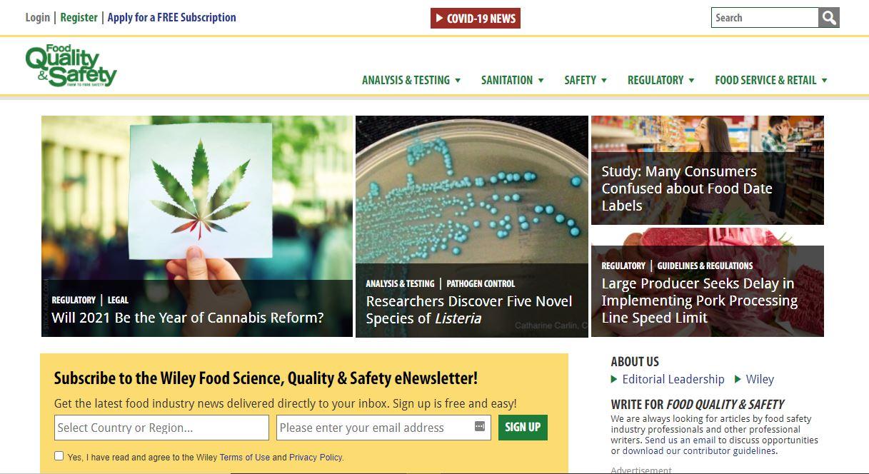 """Ejemplo de sitio web de la industria: calidad y seguridad de los alimentos. """"Class ="""" wp-image-23195 """"width ="""" 663 """"height ="""" 361"""