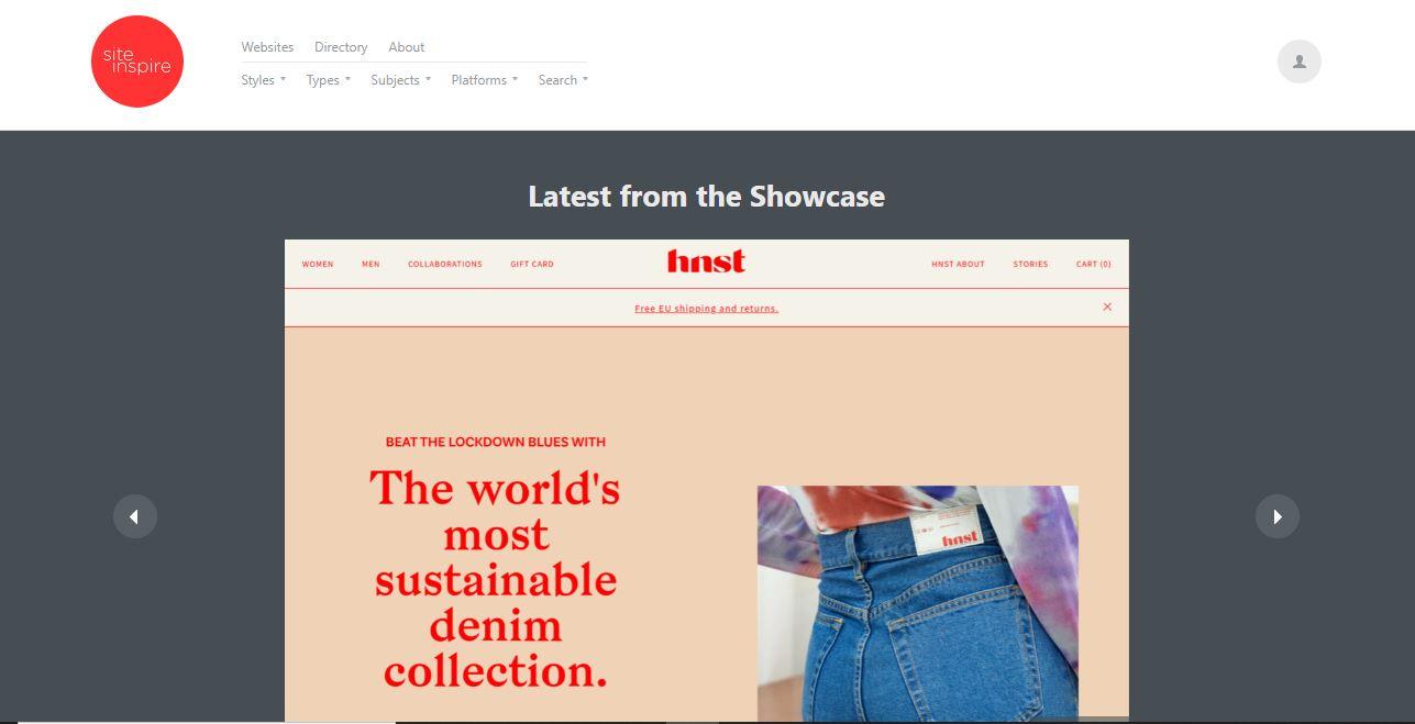 "Ejemplo de sitio web con ideas de diseño de sitios web: Site Inspire. ""Class ="" wp-image-23197 ""width ="" 663 ""height ="" 339"