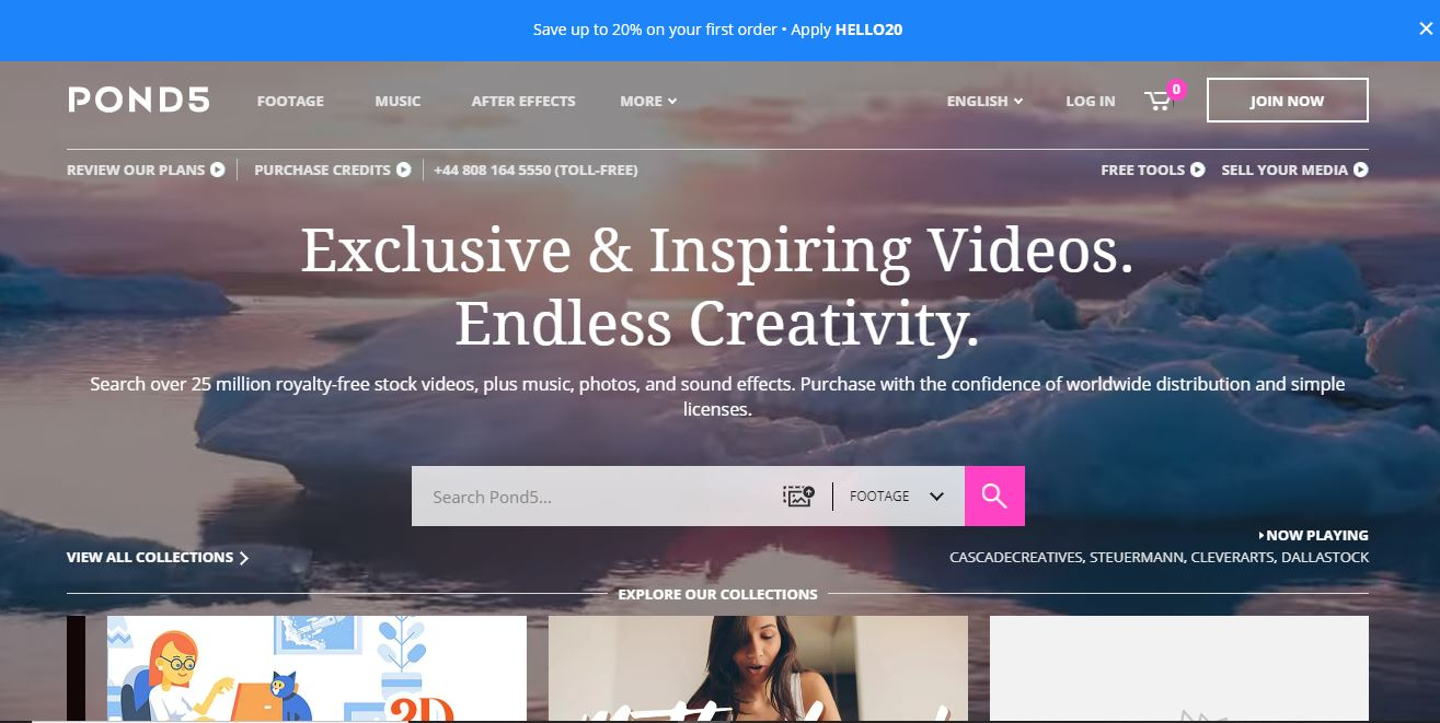 """Stock music and video website example - Pond 5."""" class=""""wp-image-23210"""" width=""""663"""" height=""""333"""