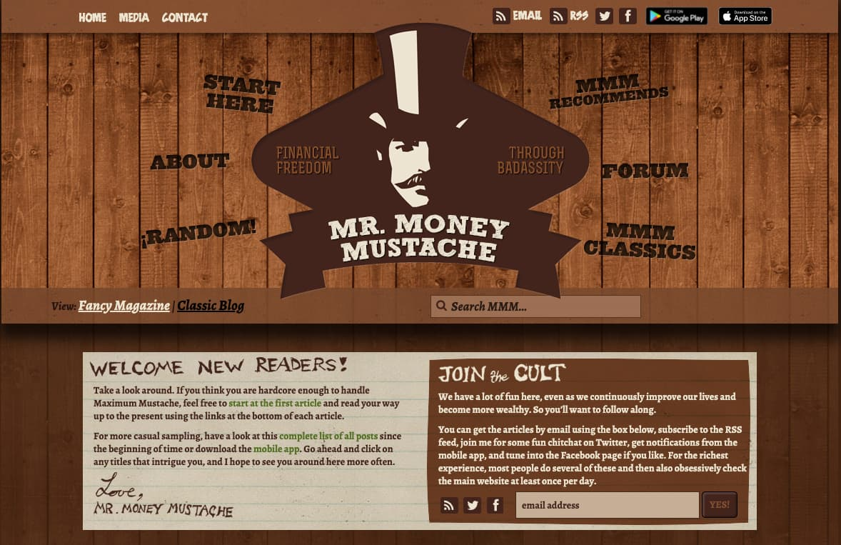 """Personal finance website example - Mr. Money Moustache"""" class=""""wp-image-23211"""" width=""""663"""" height=""""429"""