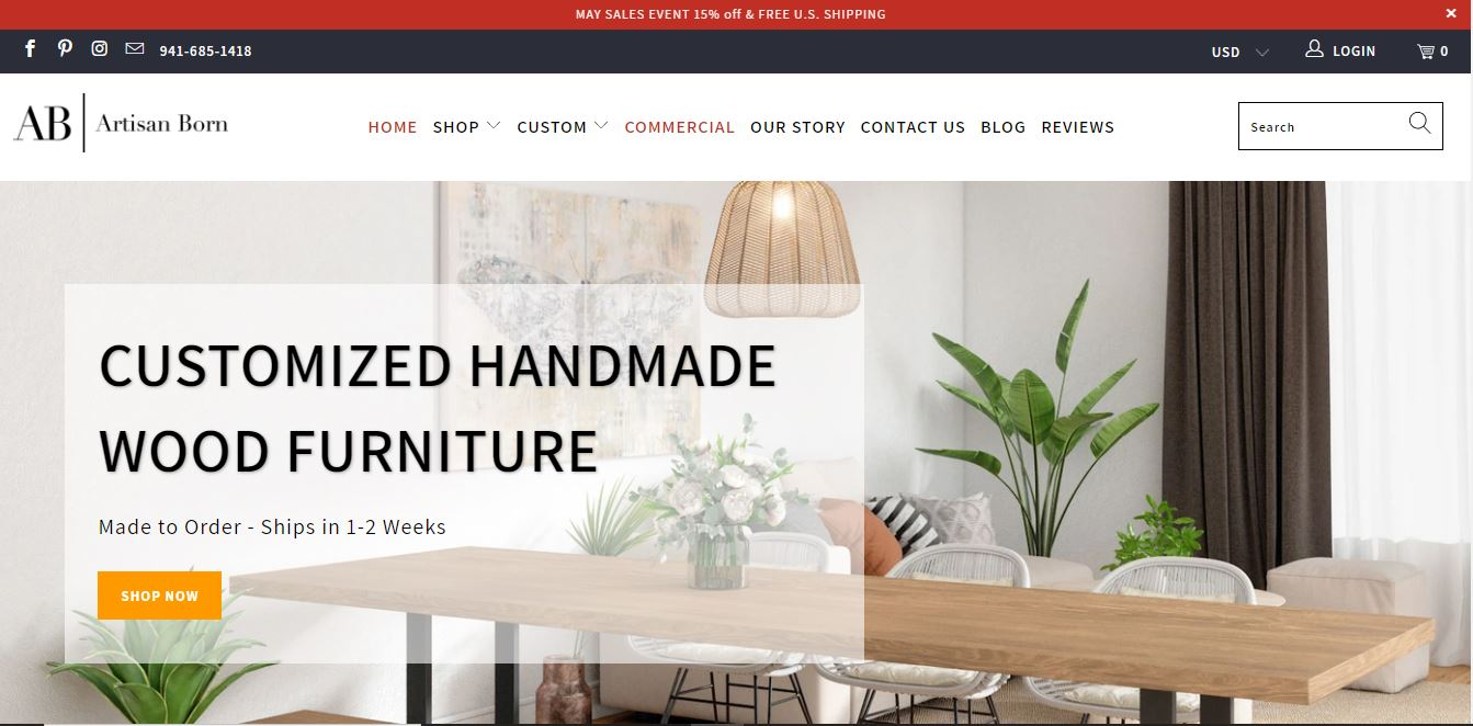 """Online marketplace example - Artisan Born."""" class=""""wp-image-23213"""" width=""""663"""" height=""""326"""