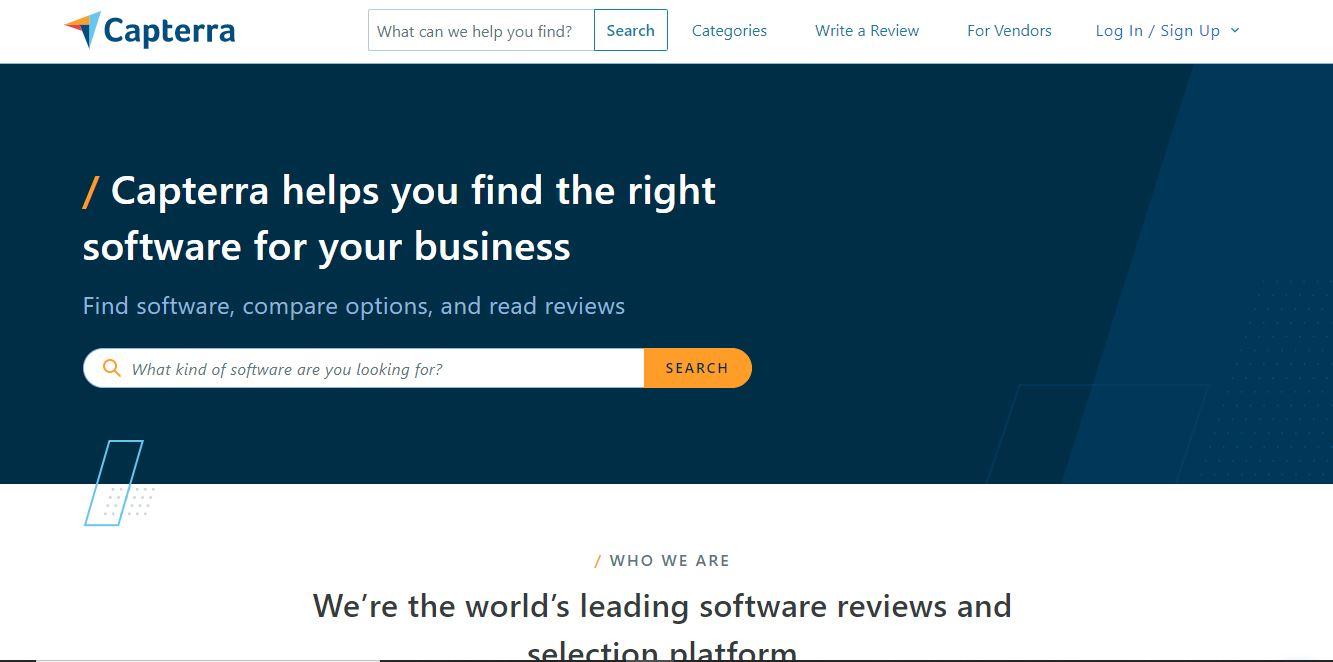 "Sitio web de reseñas de productos Capterra. ""Class ="" wp-image-23153 ""width ="" 663 ""height ="" 329"