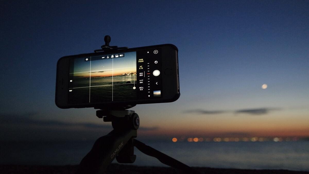 taking low light exposure photo on iphone