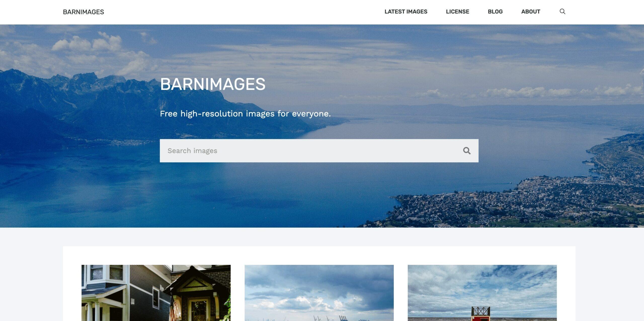 Главная страница Barnimages