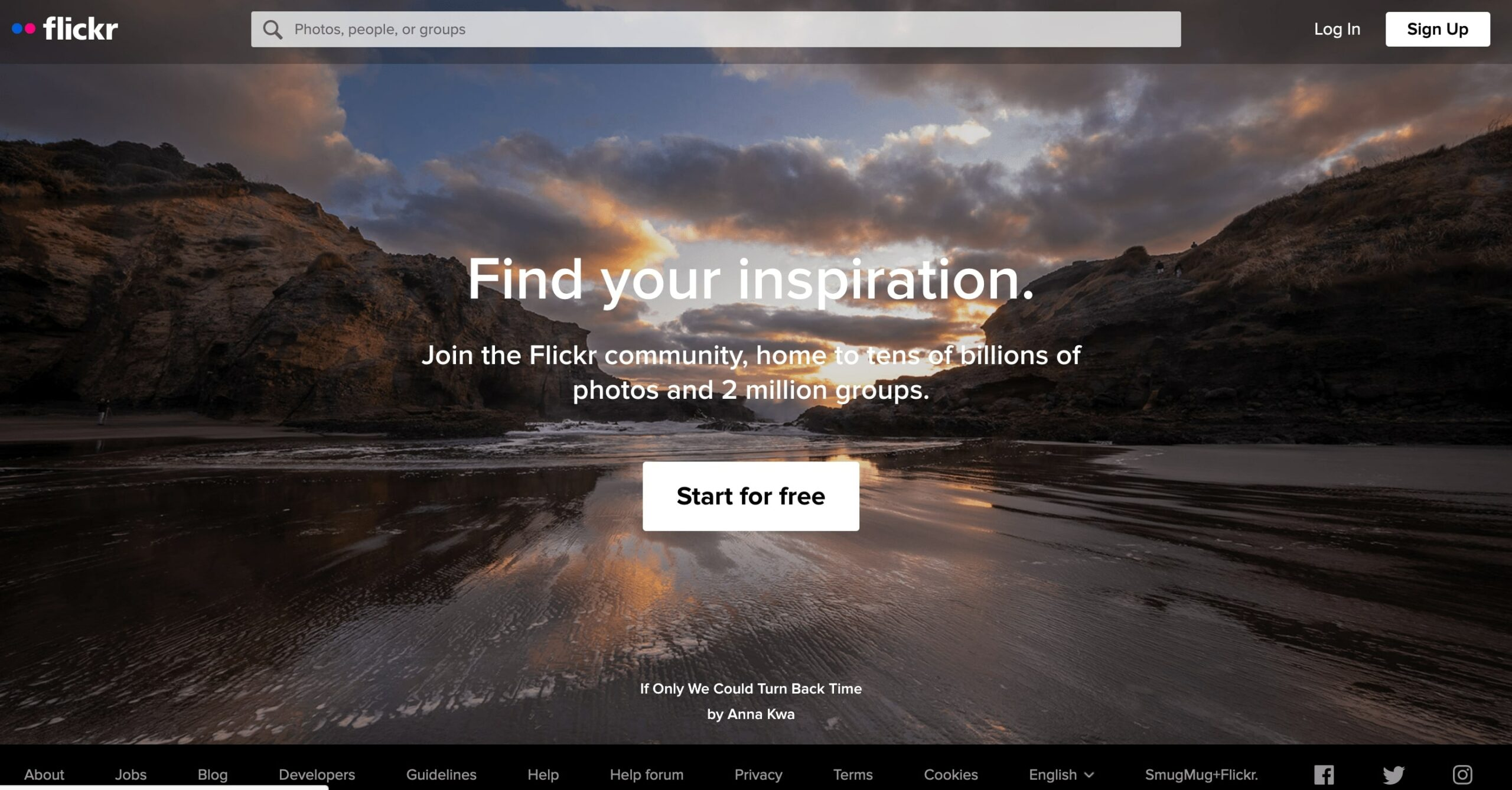 Главная страница Flickr