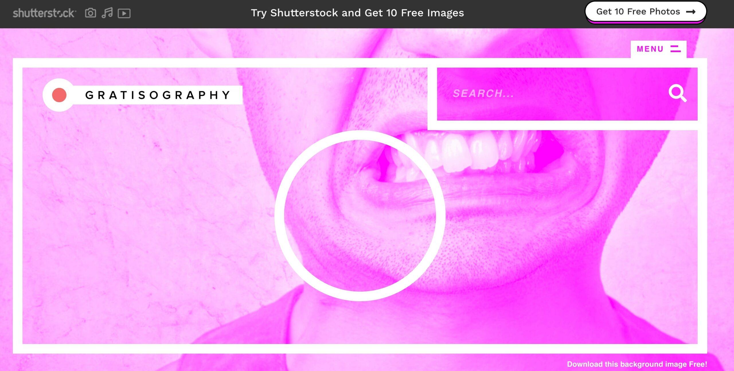 Главная страница Gratisography