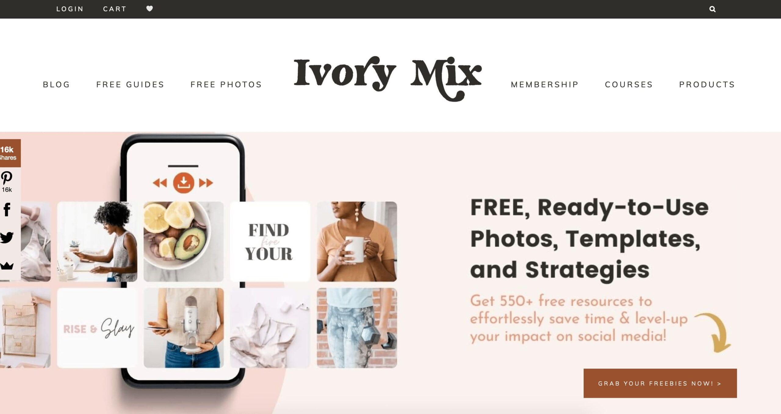 Главная страница Ivory Mix