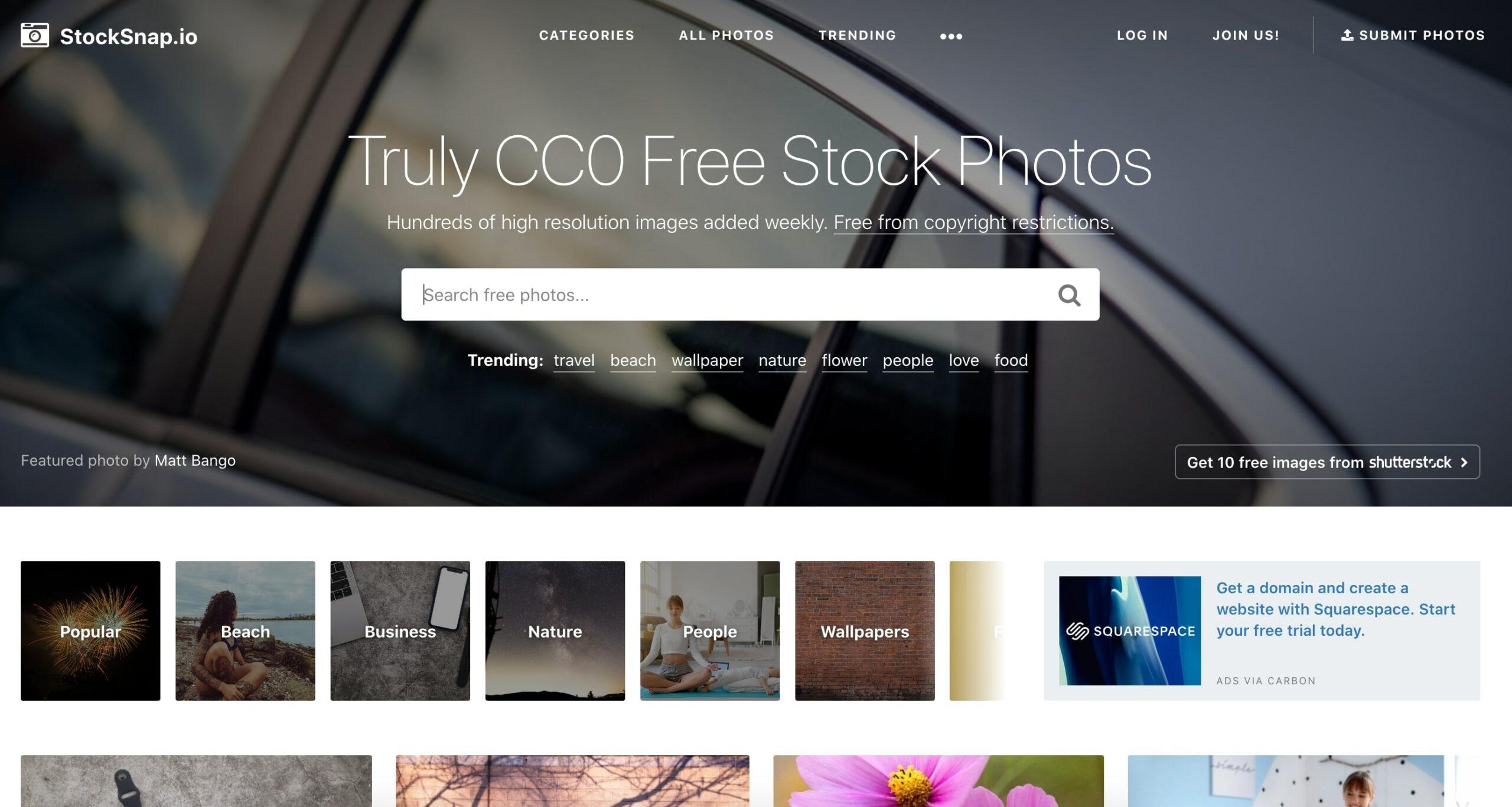 Главная страница Stockcnap