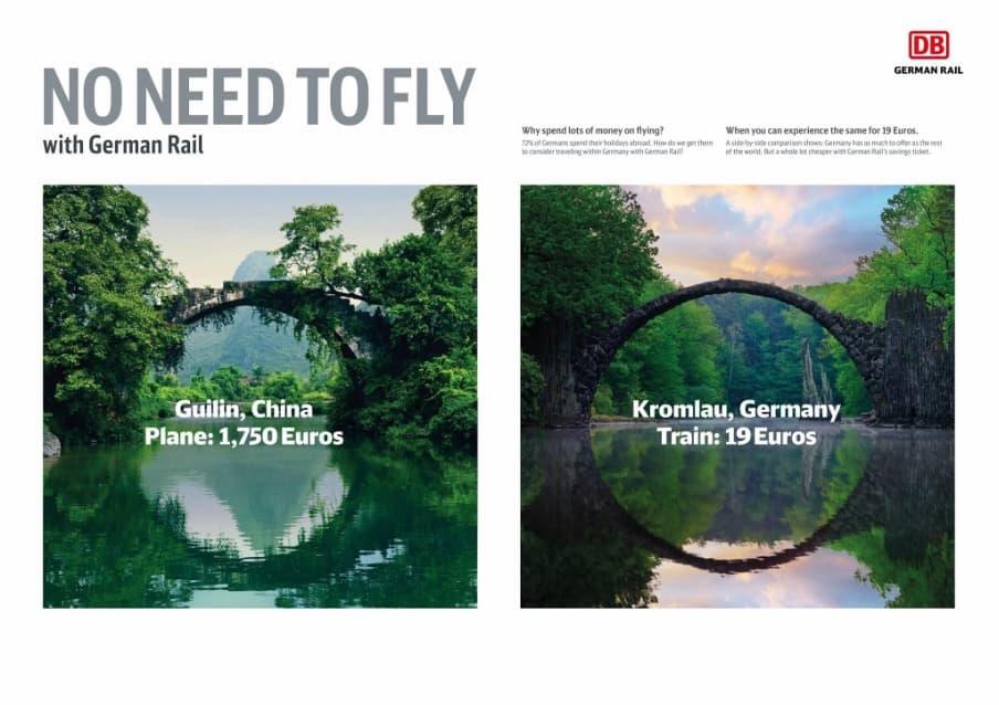 Personalized ads from Deutsche Bahn.