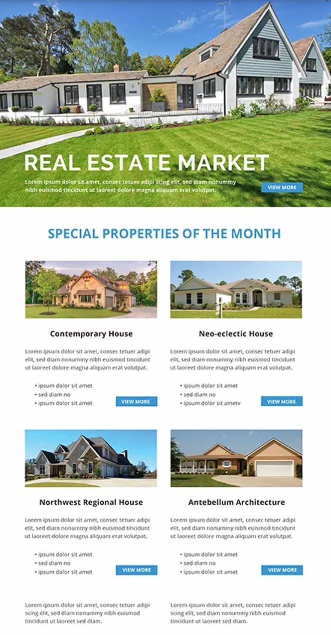 Real estate newsletter example from Housecashin.com.