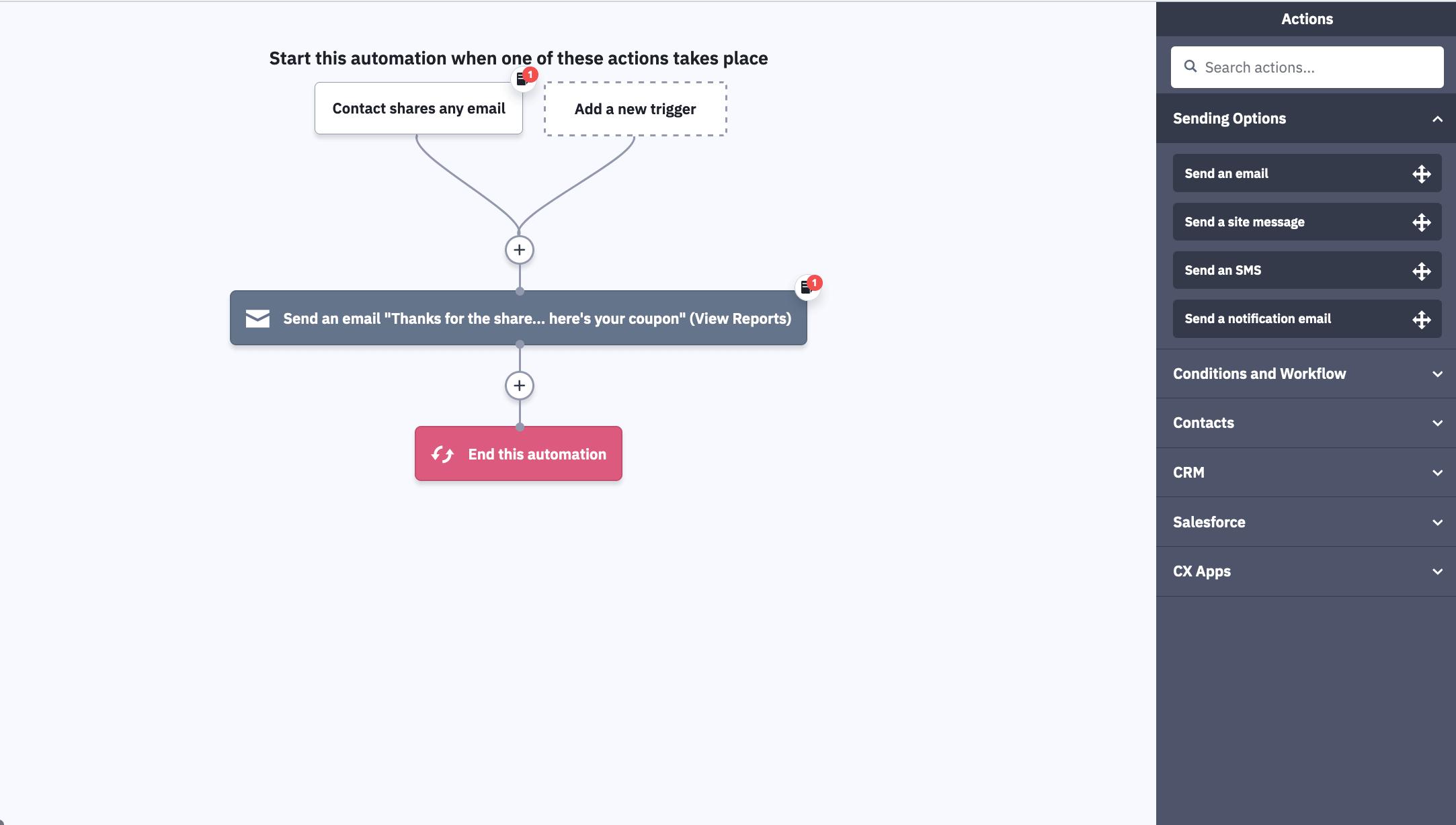 конструктор автоматизации Active Campaign