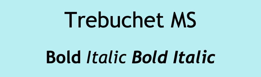 Trebuchet MS font.