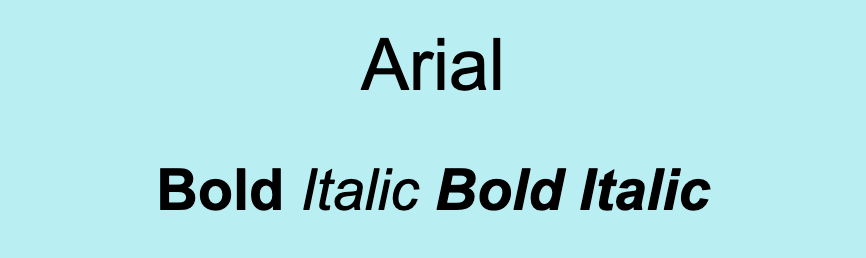 Arial font.