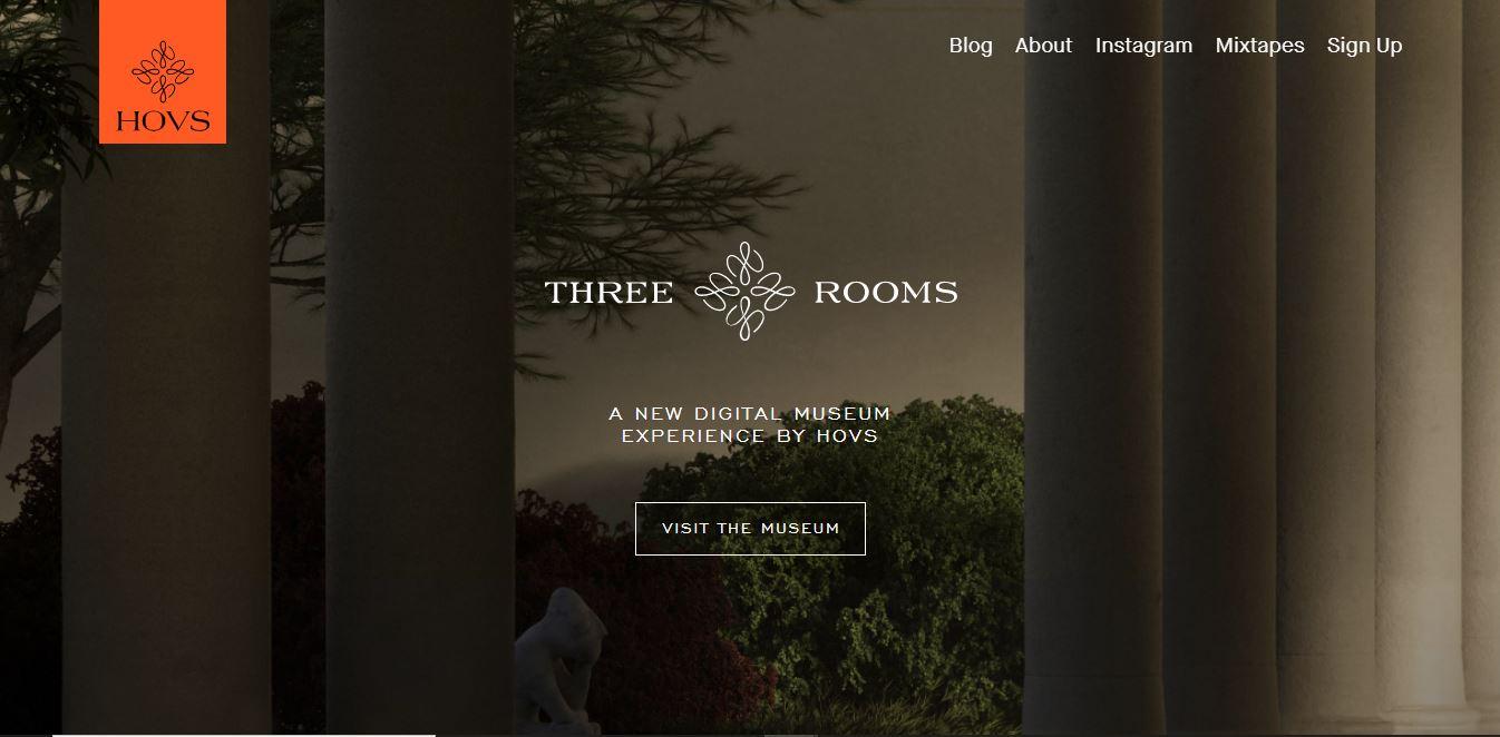 A digital museum website.